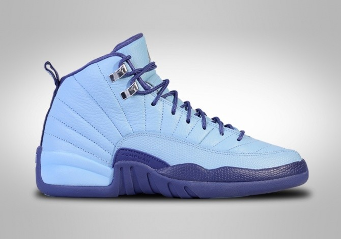 sale retailer b84c4 dde55 NIKE AIR JORDAN 12 RETRO NORTH CAROLINA TAR HEELS BG (SMALLER SIZES)
