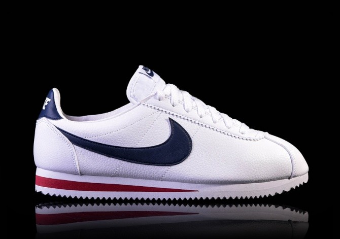 1b7d59c3aa2 NIKE CLASSIC CORTEZ LEATHER WHITE MIDNIGHT NAVY-GYM RED price €87.50 ...