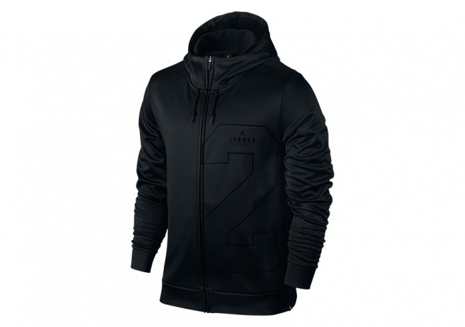NIKE AIR JORDAN TWO-THREE THERMA HOODIE BLACK