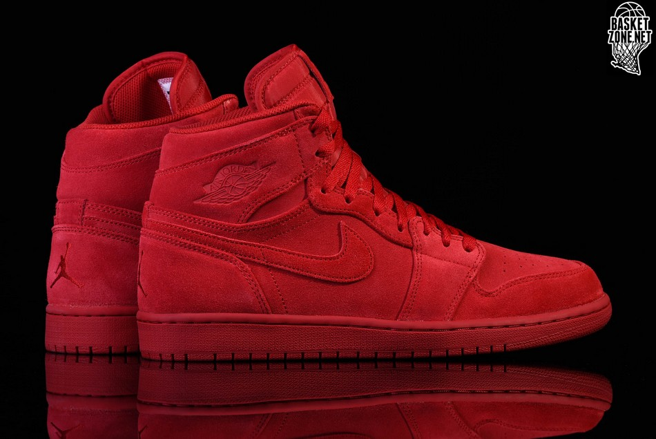 52f6302b592ff8 Retro Red 1 Suede High Air Nike Jordan Pour Cwpt61nq - spades ...
