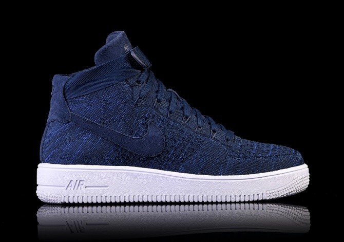 the latest def4f 0bd75 NIKE AIR FORCE 1 ULTRA FLYKNIT MID COLLEGE NAVY