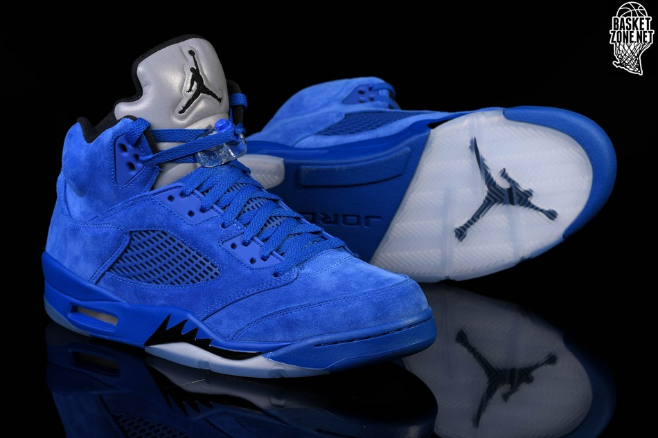 outlet store 78713 a6277 NIKE AIR JORDAN 5 RETRO BLUE SUEDE