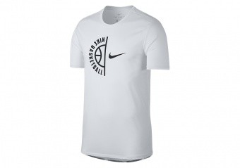 NIKE FLY CLOUDS DRY BASKETBALL TEE WHITE