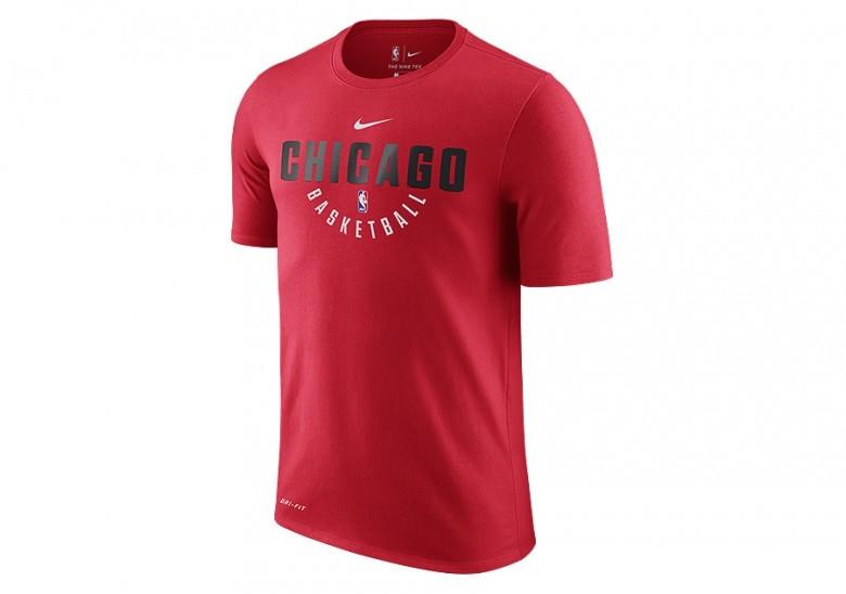 NIKE NBA CHICAGO BULLS DRY TEE UNIVERSITY RED