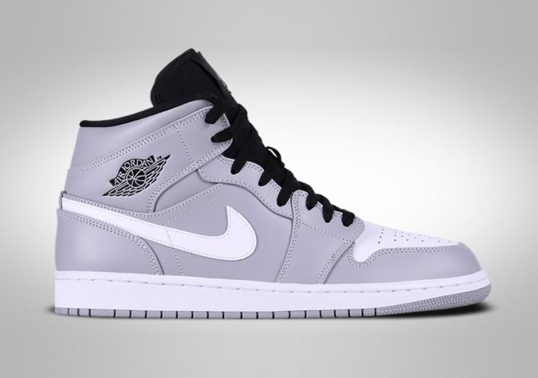 Wolf Jordan 1 Grey Nike Mid Air Retro Pour 31cTFKlJ