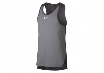 NIKE BREATHE ELITE BASKETBALL TOP ATMOSPHERE GREY