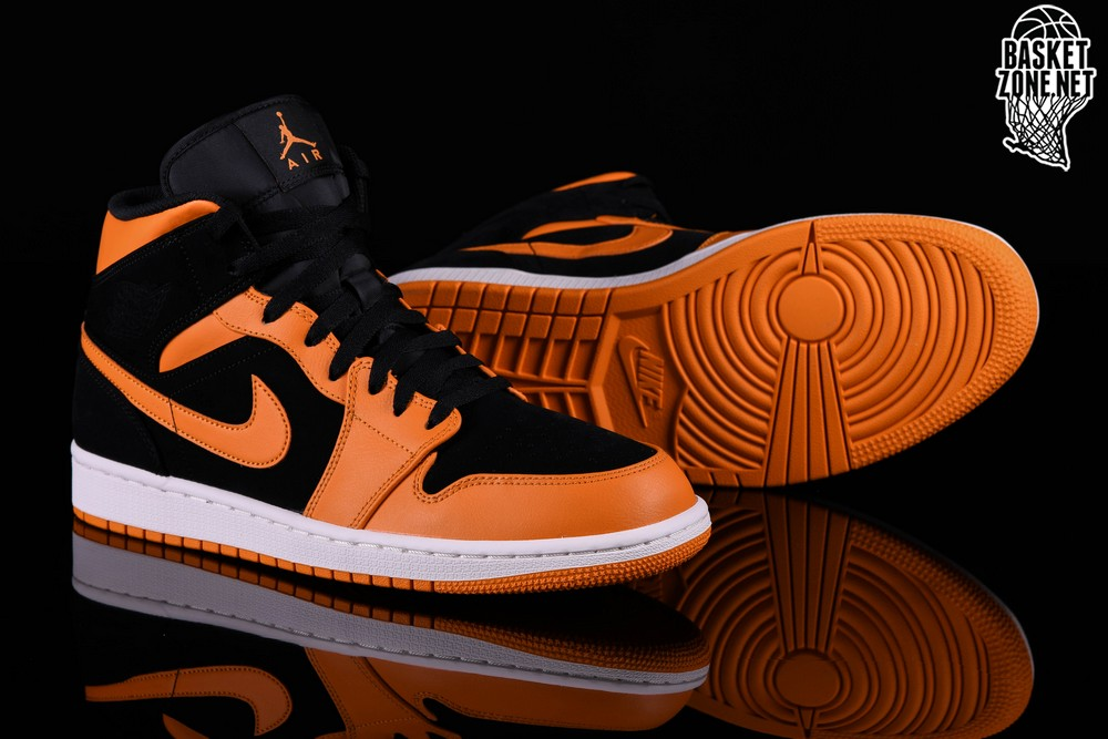 NIKE AIR JORDAN 1 RETRO MID BLACK ORANGE PEEL price €99.00 ... 70ff3da69d16