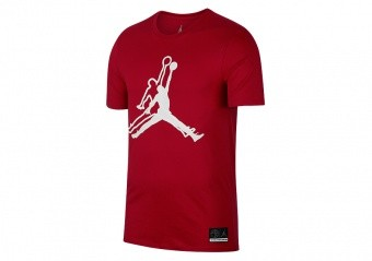 NIKE AIR JORDAN SPORTSWEAR JUMPMAN HE GOT GAME TEE GYM RED