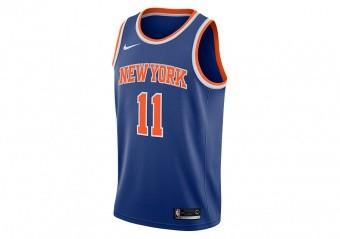 NIKE NBA NEW YORK KNICKS FRANK NTILIKINA SWINGMAN ROAD JERSEY RUSH BLUE