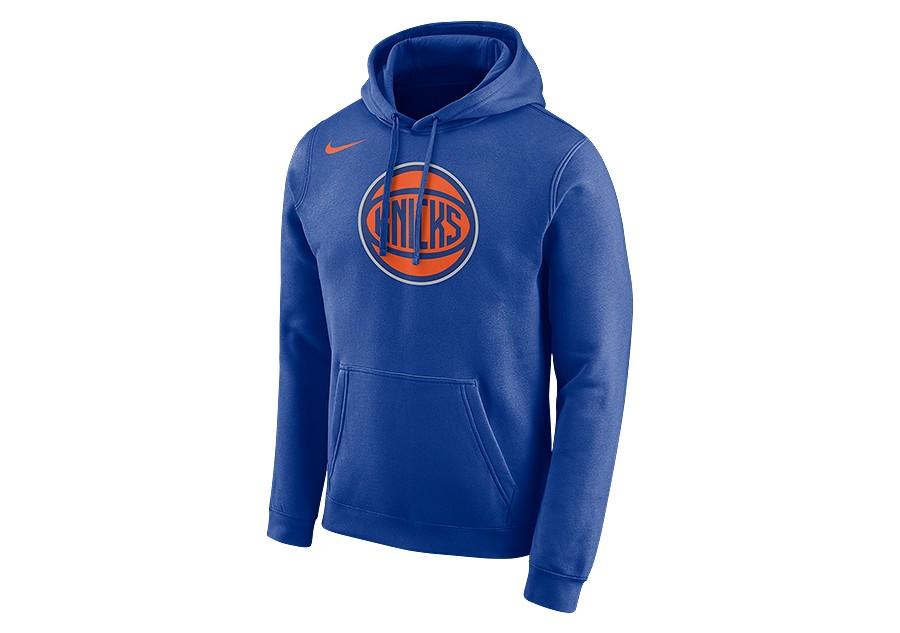 56097413 NIKE NBA NEW YORK KNICKS LOGO HOODIE RUSH BLUE price €62.50   Basketzone.net