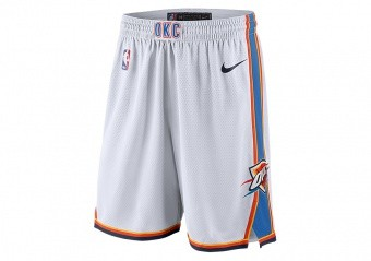 NIKE NBA OKLAHOMA CITY THUNDER SWINGMAN HOME SHORTS WHITE
