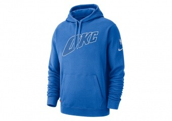 NIKE NBA OKLAHOMA CITY THUNDER COURTSIDE HOODIE SIGNAL BLUE