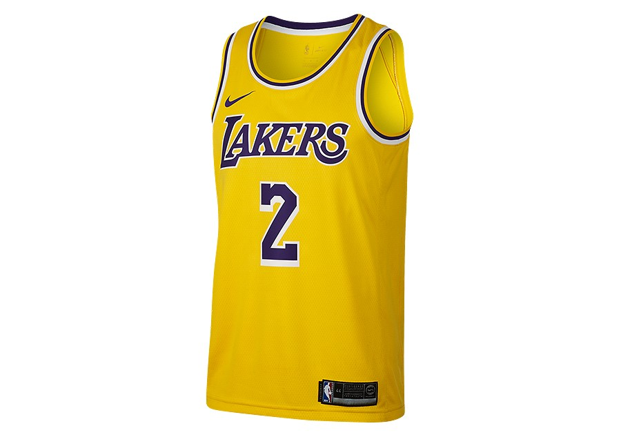 quite nice fb2f4 d734a NIKE NBA LOS ANGELES LAKERS LONZO BALL SWINGMAN ROAD JERSEY ...