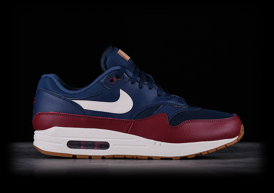 new concept 6053e d9c80 NIKE AIR MAX 1 NAVY TEAM RED