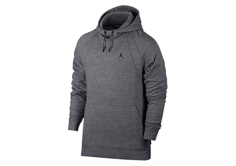 03ab020a44dc NIKE AIR JORDAN SPORTSWEAR WINGS FLEECE HOODIE CARBON HEATHER per ...