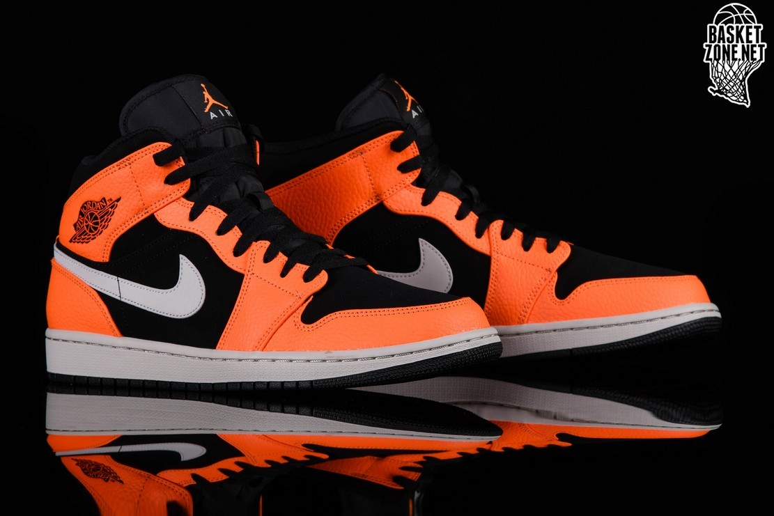 NIKE AIR JORDAN 1 RETRO MID BLACK ORANGE price €97.50 ...