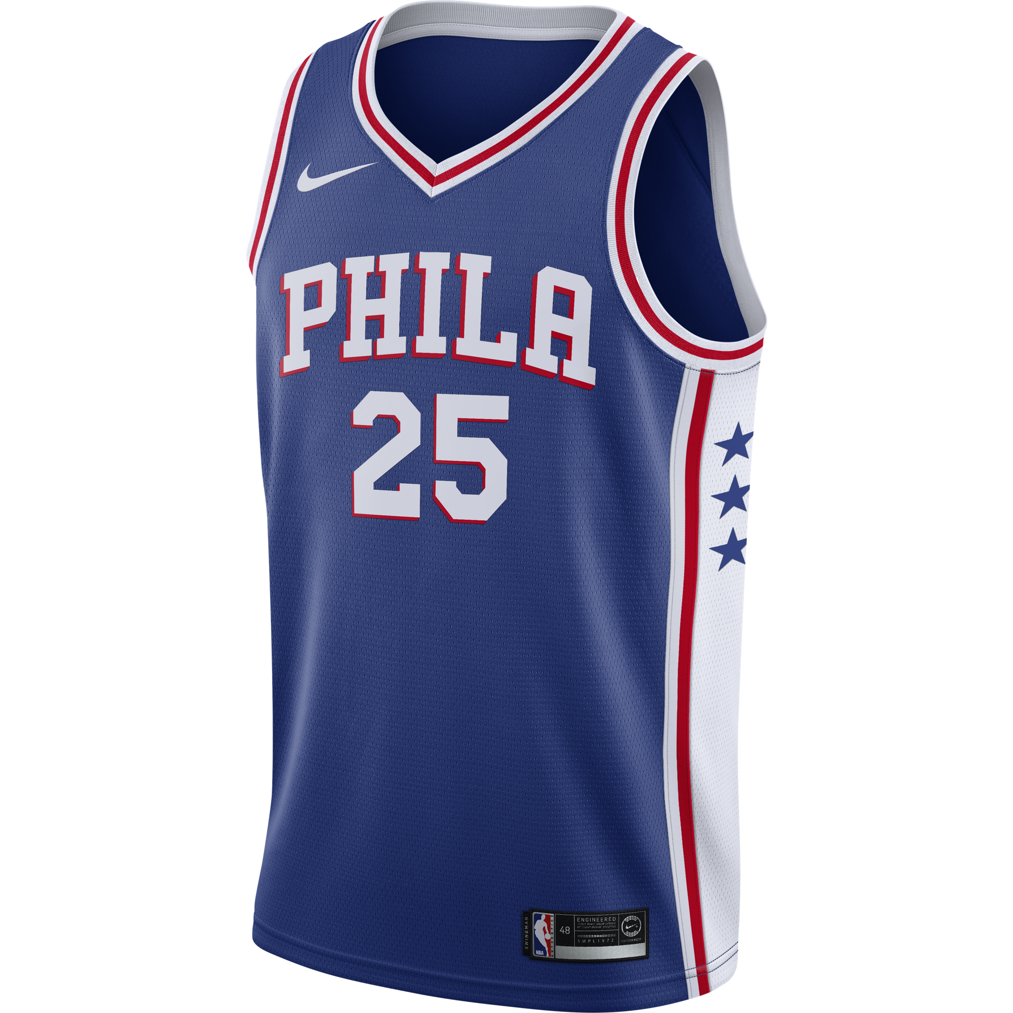 NIKE NBA PHILADELPHIA 76ERS BEN SIMMONS SWINGMAN ROAD JERSEY