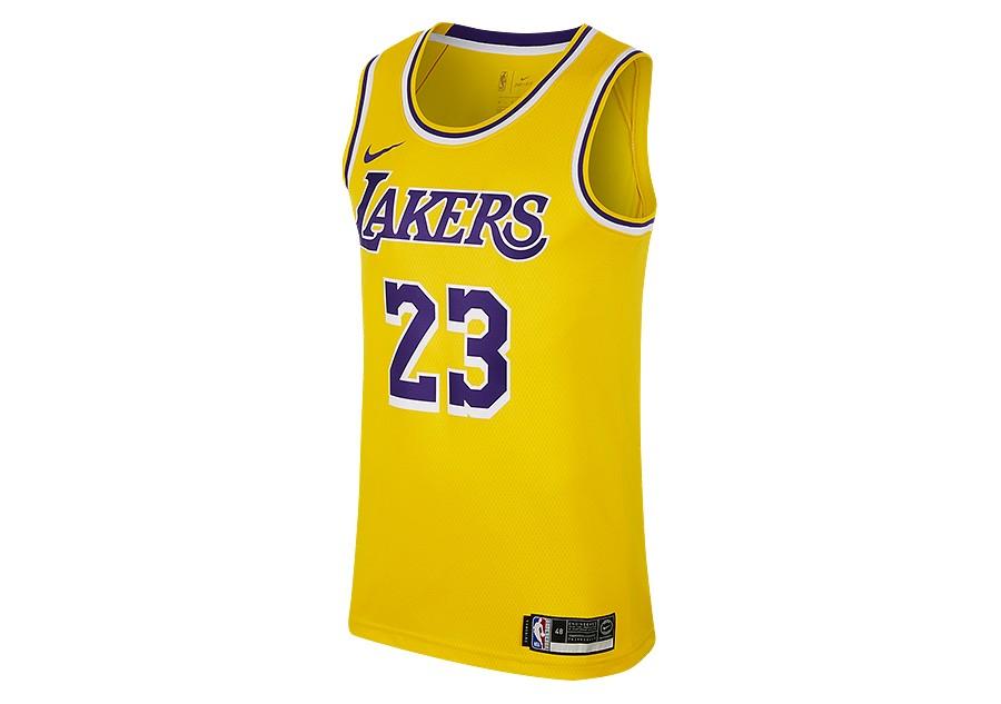 newest 33214 935a5 NIKE NBA LOS ANGELES LAKERS LEBRON JAMES SWINGMAN ROAD JERSEY AMARILLO