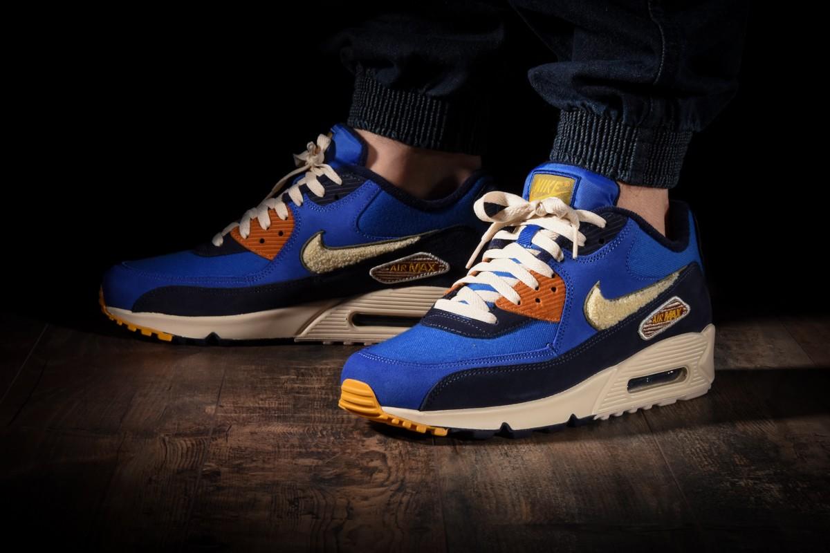 Nike Air Max 90 Premium SE 858954 400 | White, Dark Blue
