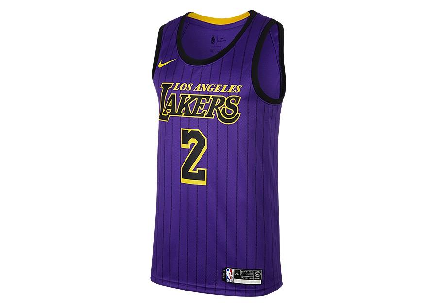 099d4e63c60 NIKE NBA LOS ANGELES LAKERS LONZO BALL SWINGMAN JERSEY FIELD PURPLE ...