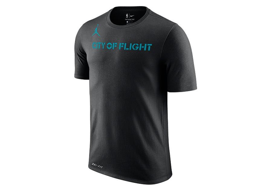 774e29a2c94 NIKE AIR JORDAN NBA CHARLOTTE HORNETS DRY TEE BLACK price €32.50 |  Basketzone.net
