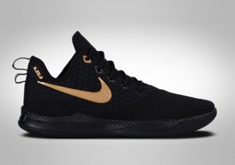 NIKE LEBRON WITNESS III BLACK METALLIC GOLD