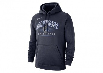 NIKE NBA DALLAS MAVERICKS CREST HOODY COLLEGE NAVY