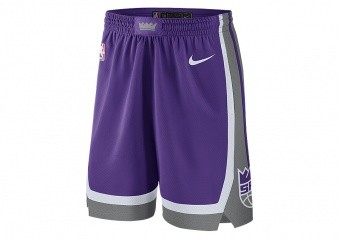 NIKE NBA SACRAMENTO KINGS SWINGMAN ROAD SHORTS FIELD PURPLE