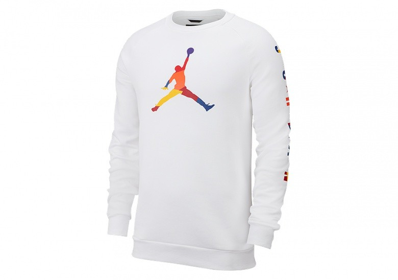 NIKE AIR JORDAN DNA FLEECE CREW WHITE
