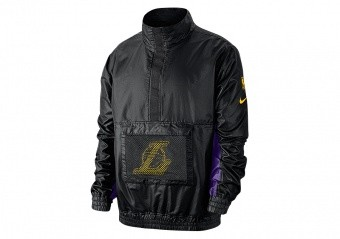 NIKE NBA LOS ANGELES LAKERS LIGHTWEIGHT COURTSIDE JACKET BLACK