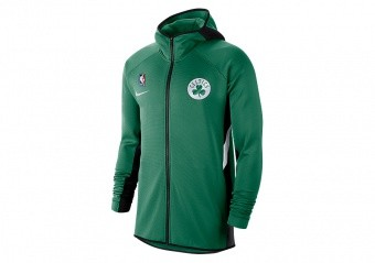 NIKE NBA BOSTON CELTICS THREMAFLEX SHOWTIME HOODIE CLOVER