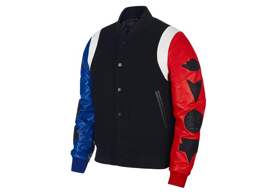 Kleidung Blau nike air jordan varsity jacket Blau graphite