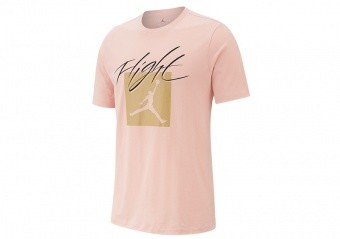 NIKE AIR JORDAN JUMPMAN FLIGHT CREW TEE CORAL STARDUST