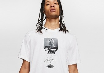 NIKE AIR JORDAN THE MAN CREW TEE WHITE