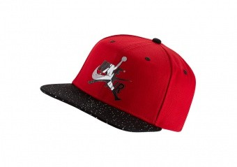 NIKE AIR JORDAN PRO JUMPMAN CLASSICS CEMENT HAT GYM RED