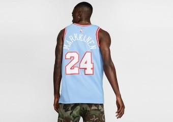 NIKE NBA CHICAGO BULLS LAURI MARKKANEN CITY EDITION SWINGMAN JERSEY VALOR BLUE