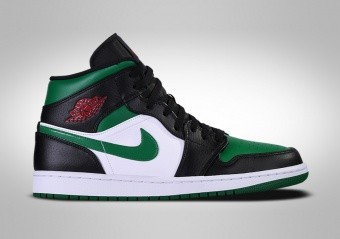NIKE AIR JORDAN 1 RETRO MID GREEN TOE