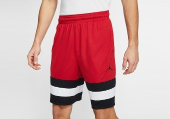 NIKE AIR JORDAN JUMPMAN BASKETBALL SHORTS GYM RED