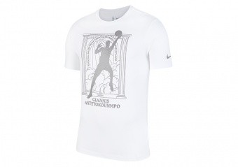 NIKE NBA GIANNIS ANTETOKOUNMPO DRI-FIT TEE WHITE