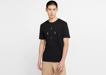 NIKE AIR JORDAN 'AIR' DRI-FIT TEE BLACK
