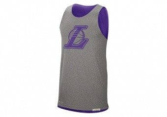 NIKE NBA LOS ANGELES LAKERS STANDARD ISSUE REVERSIBLE TANK FIELD PURPLE