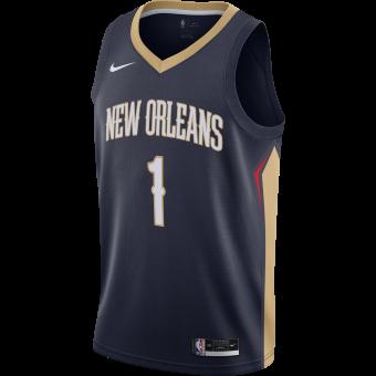 NIKE NBA NEW ORLEANS PELICANS ICON EDITION SWINGMAN JERSEY