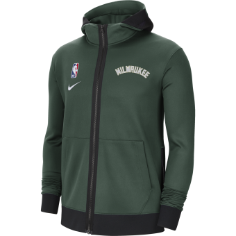 NIKE NBA MILWAUKEE BUCKS SHOWTIME THERMA FLEX HOODIE