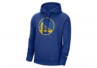 NIKE NBA GOLDEN STATE WARRIORS ESSENTIAL PULLOVER HOODIE RUSH BLUE