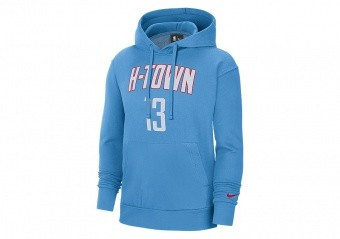 NIKE NBA HOUSTON ROCKETS JAMES HARDEN CITY EDITION ESSENTIAL PULLOVER HOODIE COAST