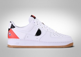 NIKE AIR FORCE 1 LOW '07 NBA WHITE CRIMSON GUM