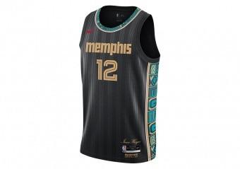 NIKE NBA MEMPHIS GRIZZLIES JA MORANT CITY EDITION SWINGMAN JERSEY BLACK