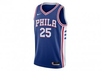 NIKE NBA PHILADELPHIA 76ERS BEN SIMMONS ICON EDITION JERSEY RUSH BLUE